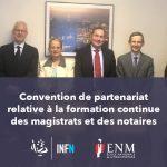 Convention de partenariat – formation continue des magistrats et des notaires