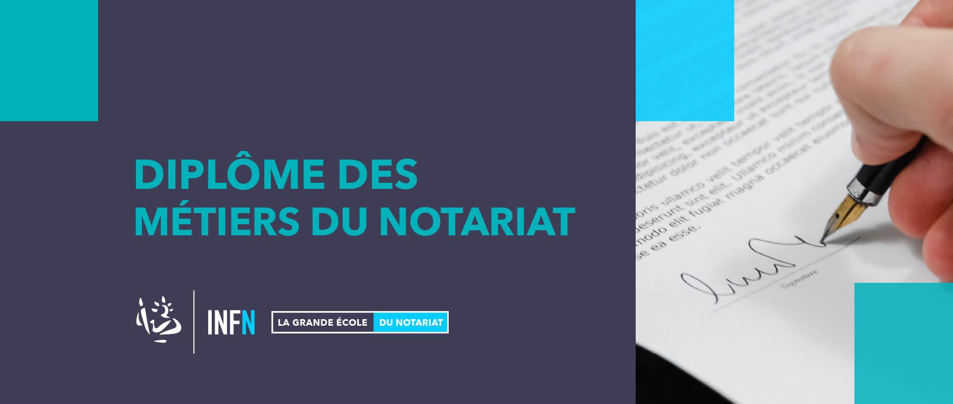 Diplôme des métiers du notariat INFN